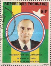 [Airmail - Visit of French President Francois Mitterrand, Typ AVL]