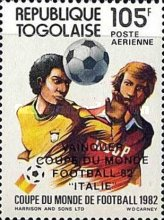 [Airmail - Football World Cup - Spain - Overprinted Results, type AVQ]