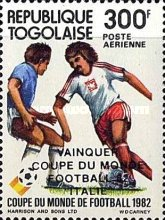 [Airmail - Football World Cup - Spain - Overprinted Results, type AVS]