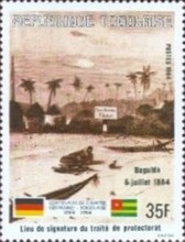 [The 100th Anniversary of Proclamation of German Protectorate, type AXI]
