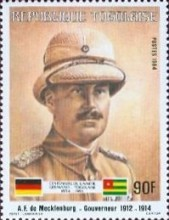 [The 100th Anniversary of Proclamation of German Protectorate, type AYD]