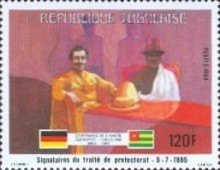 [The 100th Anniversary of Proclamation of German Protectorate, type AYG]