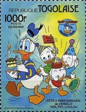 [Airmail - The 50th Anniversary of Donald Duck, type BAI]