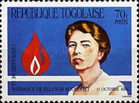 [The 100th Anniversary of the Birth of Eleanor Roosevelt, 1884-1962, type BAR]
