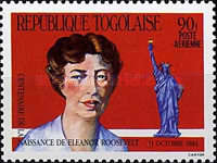 [Airmail - The 100th Anniversary of the Birth of Eleanor Roosevelt, 1884-1962, type BAS]