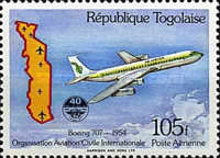 [Airmail - The 40th Anniversary of International Civil Aviation Organization or ICAO, type BAU]