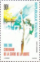 [Airmail - The 100th Anniversary of Statue of Liberty, type BHP]