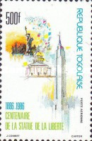 [Airmail - The 100th Anniversary of Statue of Liberty, type BHQ]
