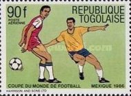 [Airmail - Football World Cup - Mexico 1986, type BHX]