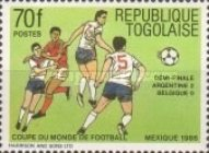 [Final Tournament Games of Football World Cup in Mexico 1986, type BIS]