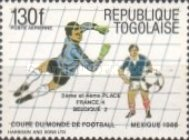 [Airmail - Final Tournament Games of Football World Cup in Mexico 1986, type BIU]