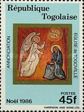 [Christmas - Frescoes from the Church of Togoville, type BJI]