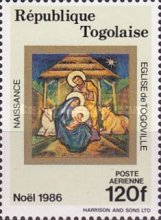 [Airmail - Christmas - Frescoes from the Church of Togoville, type BJJ]