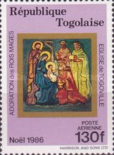 [Airmail - Christmas - Frescoes from the Church of Togoville, type BJK]