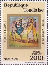 [Airmail - Christmas - Frescoes from the Church of Togoville, type BJL]