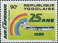 [Airmail - The 25th Anniversary of Air Afrique, type BJN]