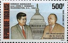 [Airmail - The 20th Anniversary of the Death of Konrad Adenauer, 1876-1967, type BKJ]