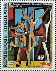 [The 15th Anniversary of the Death of Pablo Picasso, 1881-1973, type BLN]