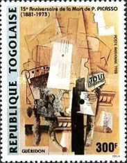 [Airmail - The 15th Anniversary of the Death of Pablo Picasso, 1881-1973, type BLP]