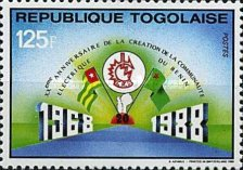 [The 20th Anniversary of Benin Electricity Community, type BNL]