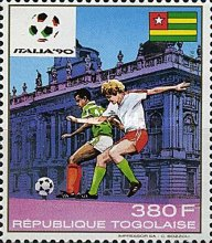 [Airmail - Football World Cup - Italy 1990, type BNQ]