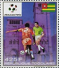 [Airmail - Football World Cup - Italy 1990, type BNR]