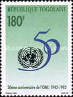 [The 50th Anniversary of the United Nations, type BTW]