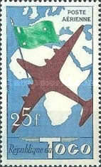 [Airmail - Designs of 1957 in Different Colors, type BY]