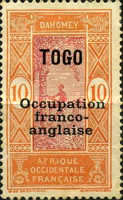 [Dahomey Postage Stamps Overprinted