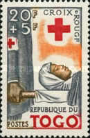[Foundation of the Red Cross in Togo and the 100th Anniversary of International Red Cross, type CD]