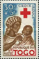 [Foundation of the Red Cross in Togo and the 100th Anniversary of International Red Cross, type CE]