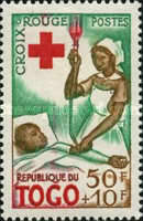 [Foundation of the Red Cross in Togo and the 100th Anniversary of International Red Cross, type CF]