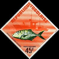 [Airmail - African Fish, type JM1]