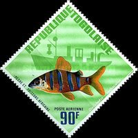 [Airmail - African Fish, type JN1]