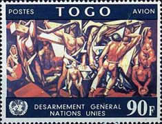 [Airmail - Worldwide Disarmament of the United Nations, type KO1]