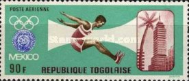 [Airmail - Summer and Winter Olympic Games - Mexico City, Mexico & Grenoble, France, type LR1]
