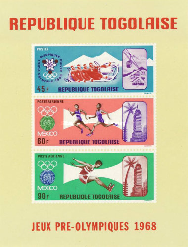 [Airmail - Summer and Winter Olympic Games - Mexico City, Mexico & Grenoble, France, type LR2]