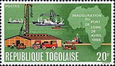 [Inauguration of Lome Port and the 8th Anniversary of Independence, type MD]