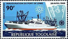 [Airmail - Inauguration of Lome Port and the 8th Anniversary of Independence, type ME]