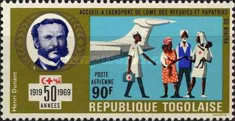 [Airmail - The 50th Anniversary of League of Red Cross Societies, type OK1]