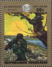 [Airmail - The 50th Anniversary of I.L.O. 1969 - Paintings, type QB1]