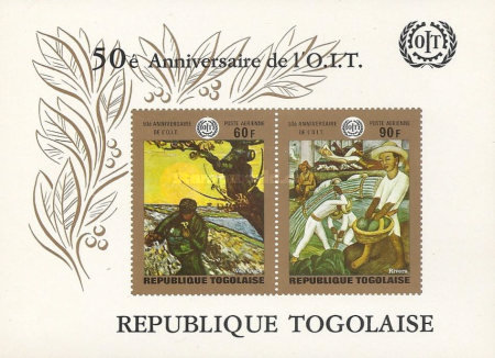 [Airmail - The 50th Anniversary of I.L.O. 1969 - Paintings, type QC2]