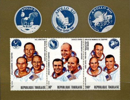 [Airmail - Space Flight - Apollo 11, 12 and 13, Typ RM1]