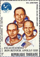 [Flight of Apollo 13 - Issues of 1970 Overprinted
