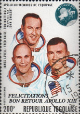 [Airmail - Flight of Apollo 13 - Issues of 1970 Overprinted