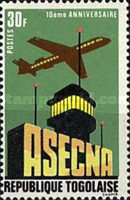 [The 10th Anniversary of Aerial Navigation Security Agency or ASECNA 1969, type TP]