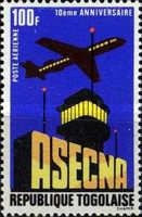 [Airmail - The 10th Anniversary of Aerial Navigation Security Agency or ASECNA, type TP1]