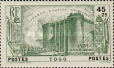 [The 150th Anniversary of French Revolution, type U]