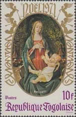 [Christmas - Madonna and Child, type UN]