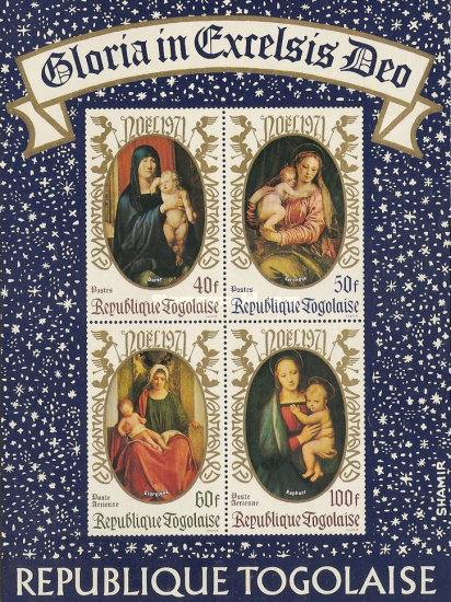 [Christmas - Madonna and Child, type US1]